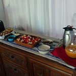 the buffet - with fresh mandarin juice and hot chocolate every day!