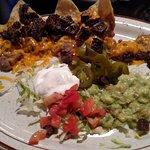 half order of beef fajita nachos