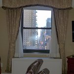 View down to Times Square from my bed!