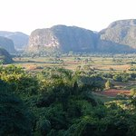 Stunning views of mogotes (limestone hills) in Vinales valley.