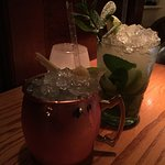 Grey Goose Moscow Mule and a Mojito - WOW!!!