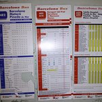 time table for barcelona bus or airport to pineda