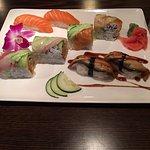 Yum! Sake, unagi, and speciality roll.