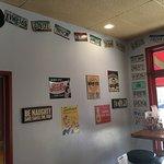 License plate wall...epic traveler mementos.