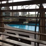 View of the swimming pool while having my breakfast