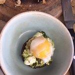 Perfectly cooked egg on a portobello mushroom