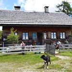 Almgasthaus mit Blick ins Gailtal zu den Julischen Alpen