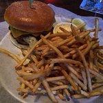 classic burger with regular fries