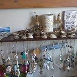Handmade shell ornaments etc