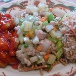 Sweet & Sour Pork w/Chicken Chow Mien...