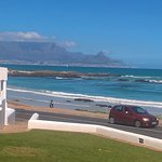 Table Mountain Bloubergstrand Beach as views from The Blue Peter restaurant
