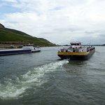 Med båt tillbaka till Rüdesheim