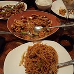 Kung Poa Chicken and Mixed Lo Mein Nodles