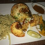 Spiny Lobster with Pasta