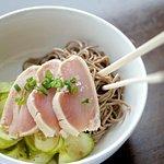 Tuna Tataki + Soba Noodle Salad