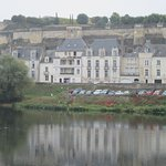 View of Les Fleurons from across Loire