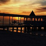 Warri Pier Restaurant at sunset