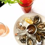 West coast oysters with mignonette