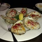 Oysters Casino are a super appetizer.