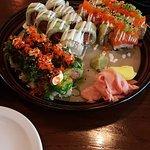 Panfried salmon roll /Smoked salmon roll/ rainbow roll