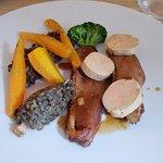 Magret de canard et son foie gras