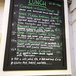 Stephen Pearce Shop and Cafe - The menu, limited but inventive and tasty