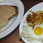 Chicken Fried Steak and gravy with my eggs and hashbrowns!