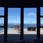 View from the bed in the Royal Honeymoon Suite