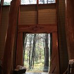 View from the bathroom in the Woodlands Cottage