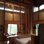 Woodlands Cottage, view from the bathroom area