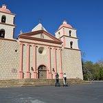At the Old Mission of Santa Barbara - we're too far away!!