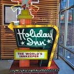 Miniature Holiday Inn sign