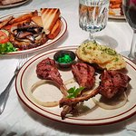 lamb chops and Chopped Steak