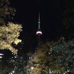 CN Tower coloured like a pumpkin for Halloween