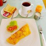 breakfast at Orange restaurant, beside hotel