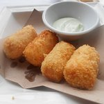 Potato and shrimp croquettes