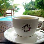 Early morning coffee by the private pool. Blissful mornings like these are hard to come across!