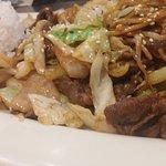 stir fry with Korean BBQ beef