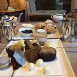 Afternoon tea - we'd already eaten the finger sandwiches - and the view over lake Windermere