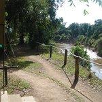 Aussicht vom Zelt auf den Mara Fluss