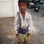 Came across this holy boy on our way to the garden ...Teerth (holy place)