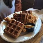 Chicken and sweet potato waffles !!!