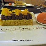 -- Biscuit Moelleux au Chocolat/Orange avec Sorbet Orange Sanguine --