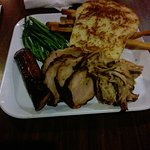 Sausage, Pork Loin, Pulled pork, Green Beans, Fries, Texas Toast