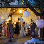 Open air dance floor - the Farm Don Pedro Wedding Venue