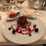 Martins Goose and a chocolate gateau