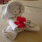 Chambermaid has awesome towel Art!
