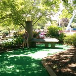 The Mini-Golf Course with mini lighthouse