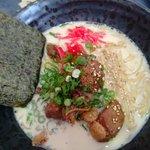 Ramen noodles soup with pork