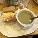 Wonderful Soup & that picture is only half the sandwich..Good old fashioned customer service wit
